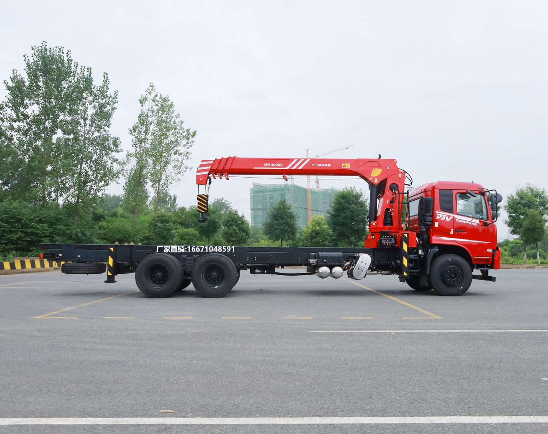 东风D3V后八轮三一12吨随车吊全方位高清图展示