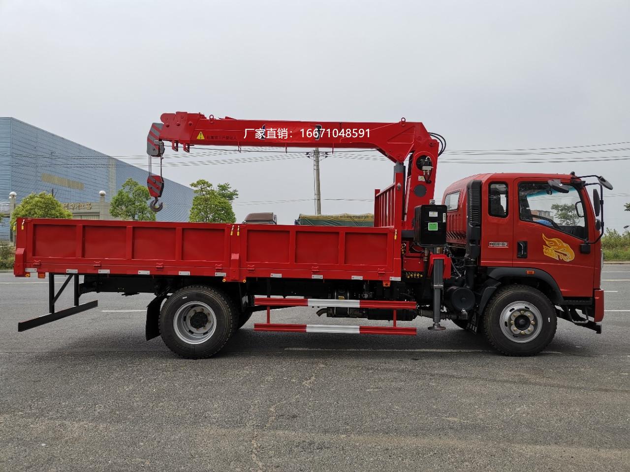 重汽豪曼5吨直臂随车吊全方位高清图展示