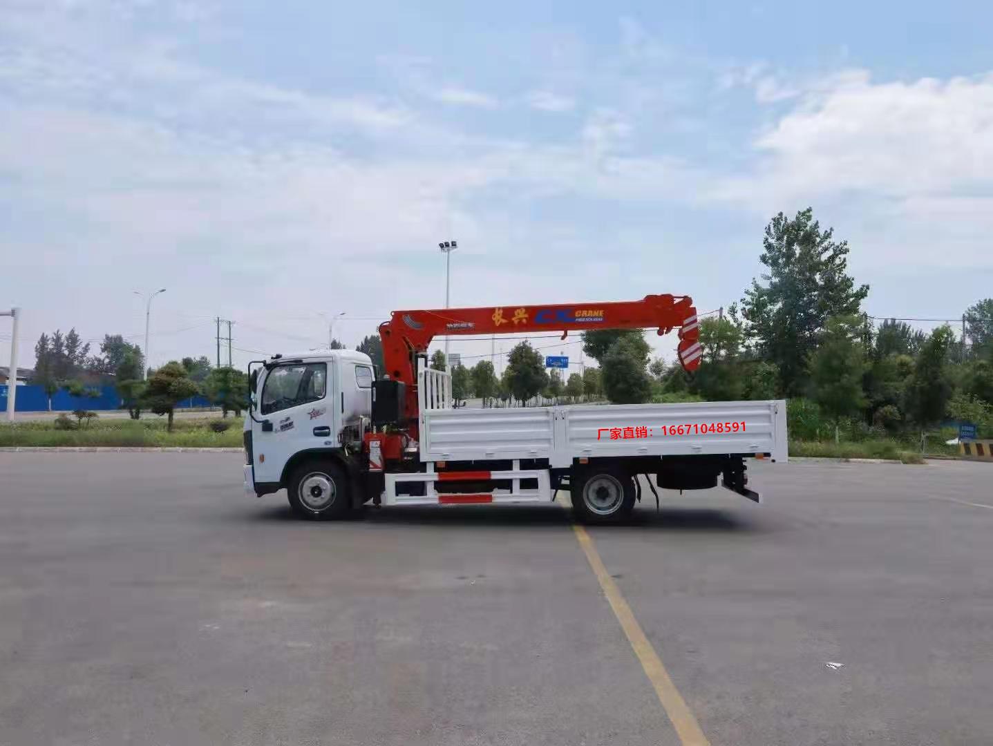 多利卡D7长兴5吨直臂随车吊全方位高清图展示