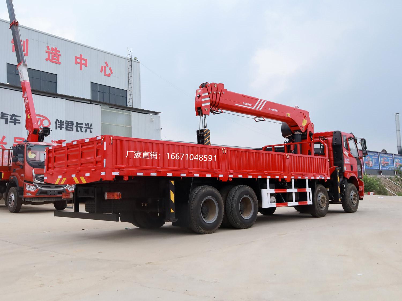 解放前四后八三一14吨随车吊全方位高清图展示