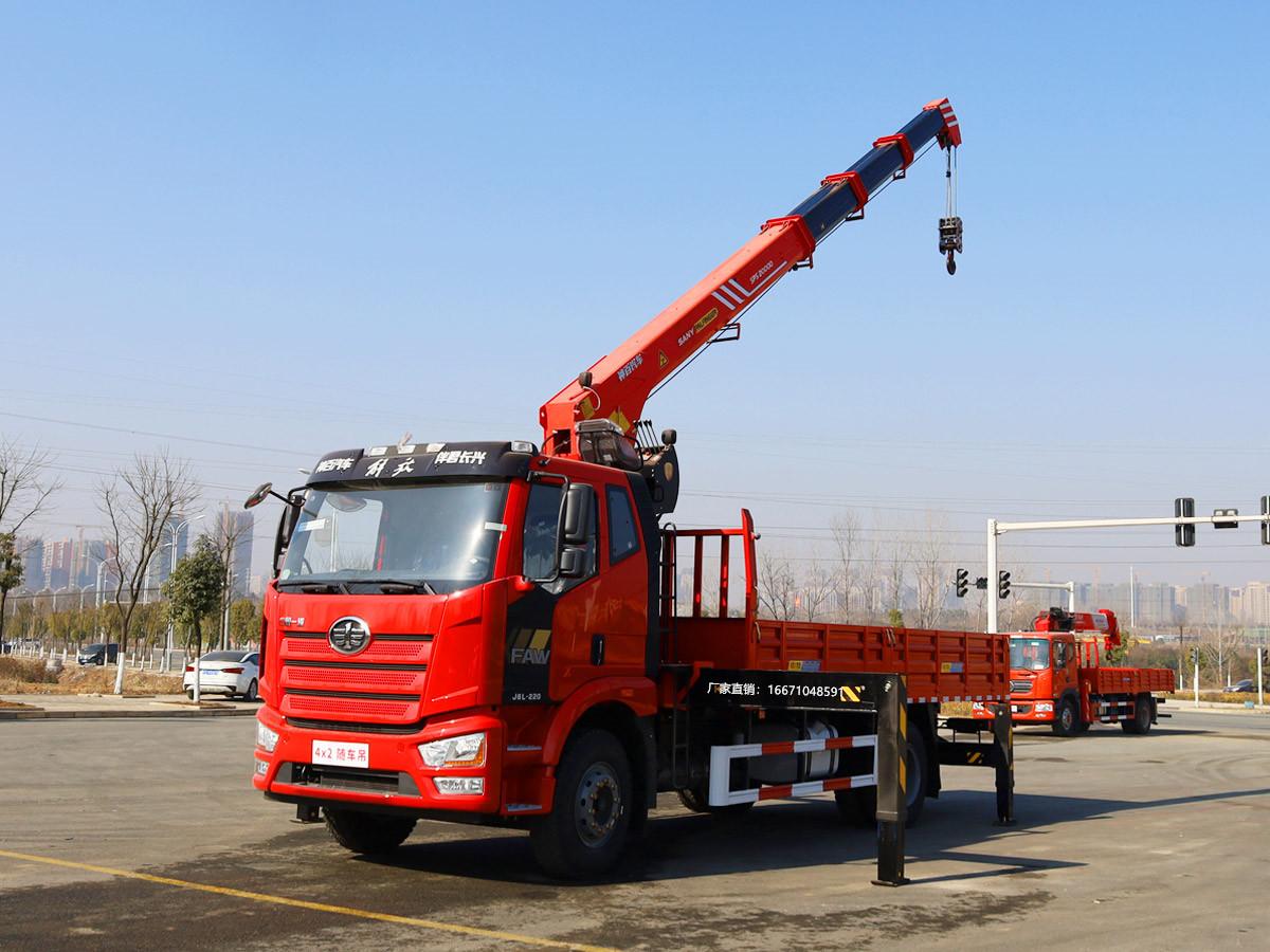解放排半三一8吨随车吊全方位高清图展示