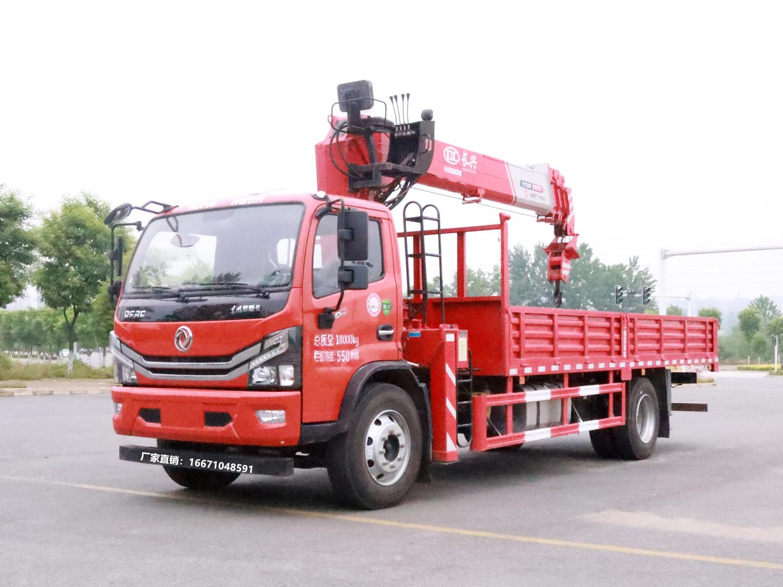 多利卡D9单排长兴8吨随车吊