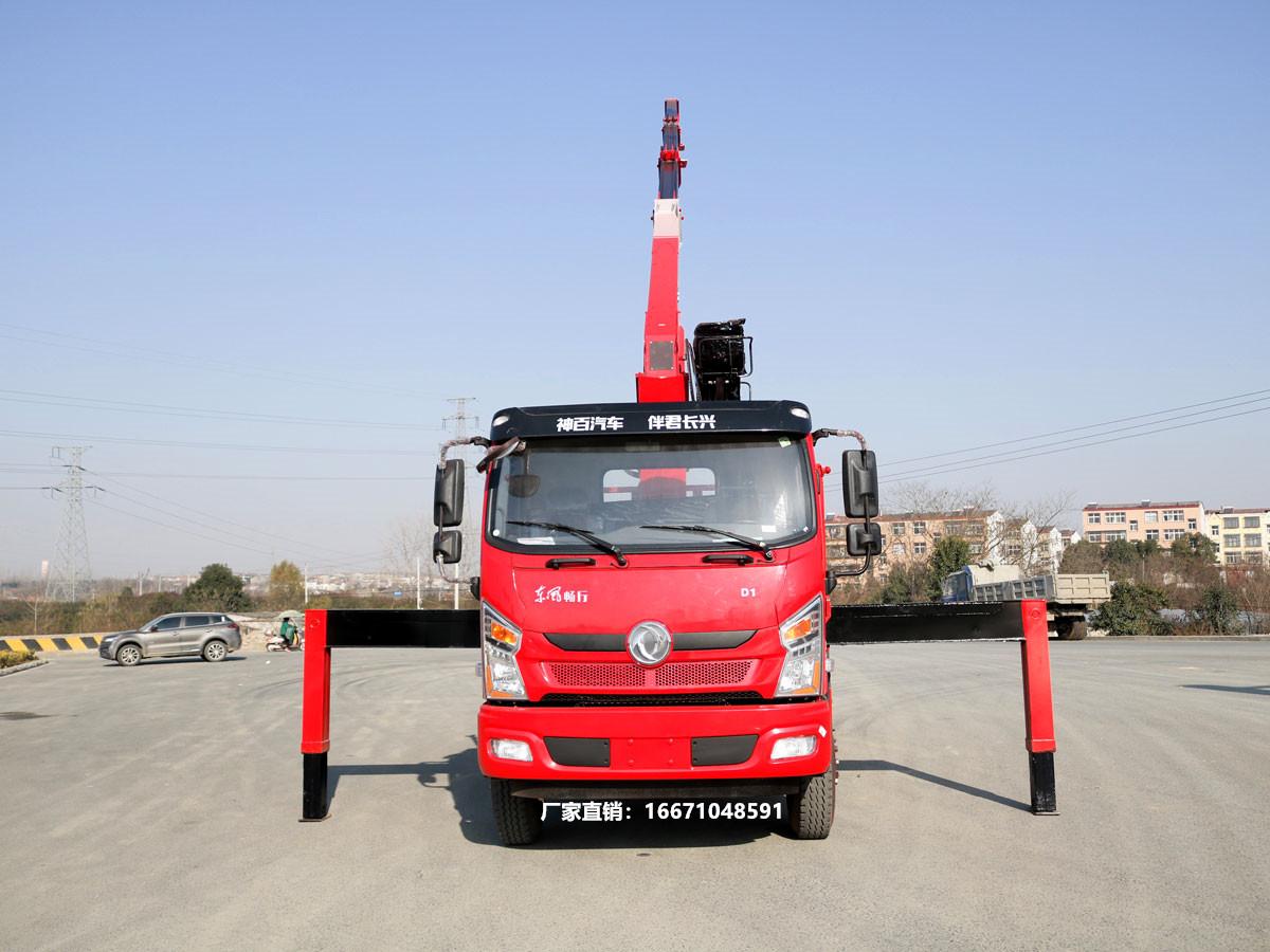 东风畅行D1单排长兴8吨随车吊全方位高清图展示