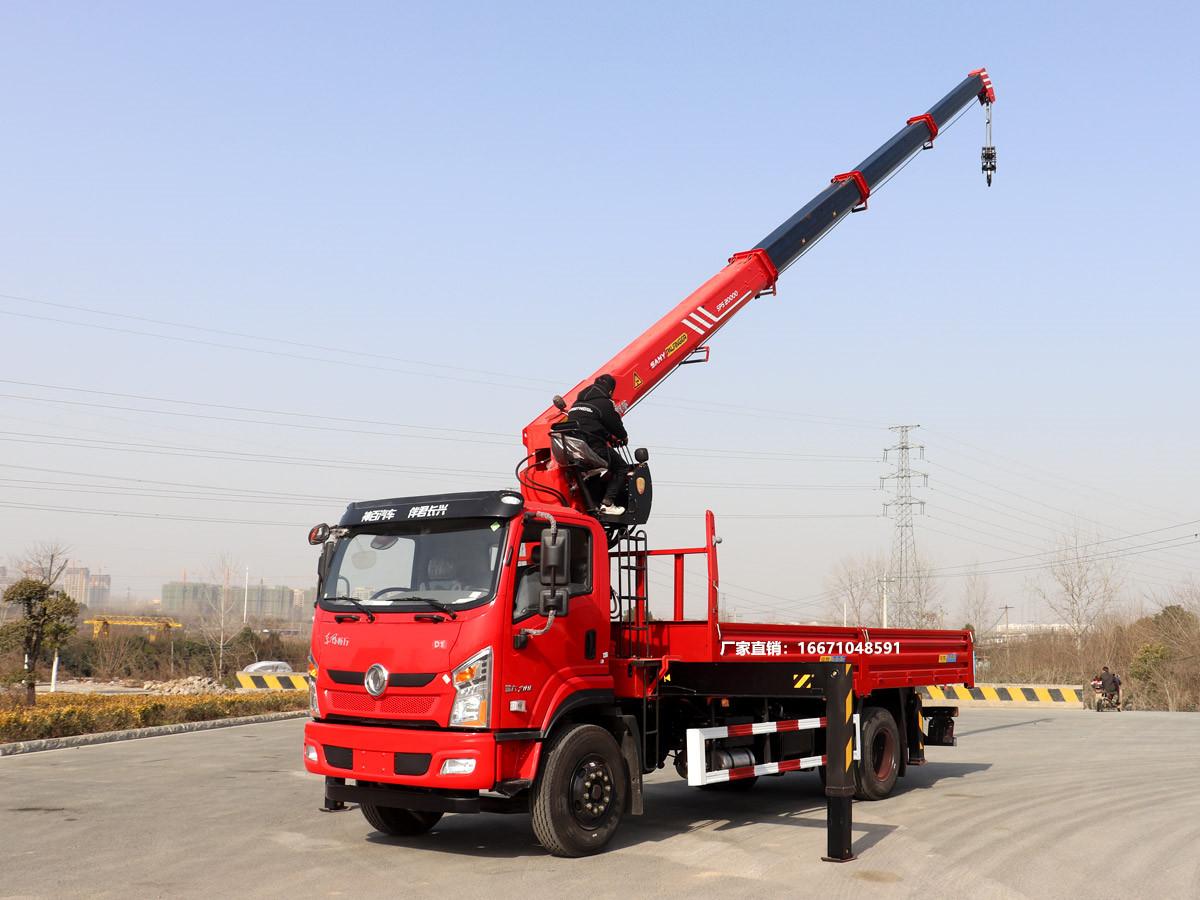 东风畅行D1单排三一8吨随车吊全方位高清图展示