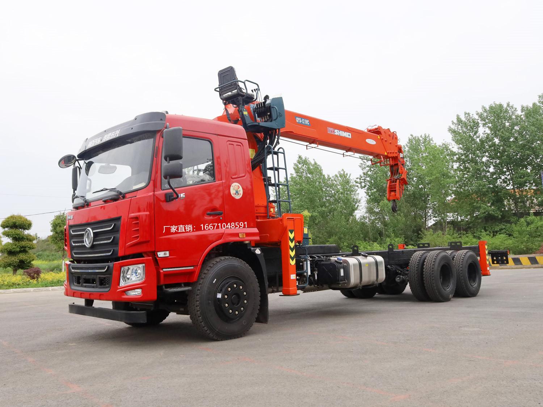 东风华神F5后八轮石煤12吨随车吊