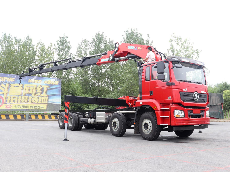 德龙前四后八韶起25吨折臂随车吊全方位高清图展示