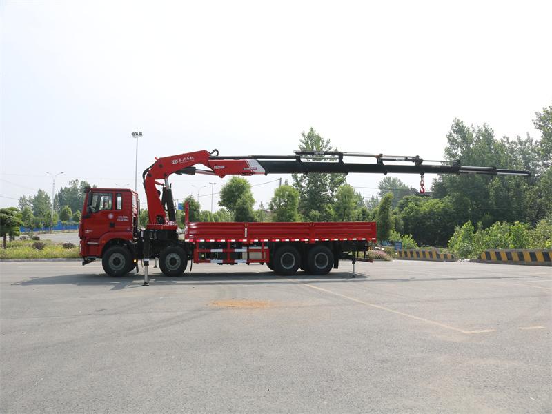 陕汽德龙前四后八长兴35吨折臂随车吊全方位高清图展示