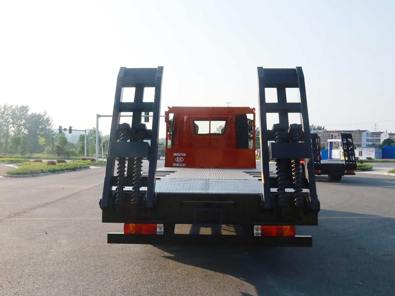 解放J6L排半平板运输车全方位高清图展示