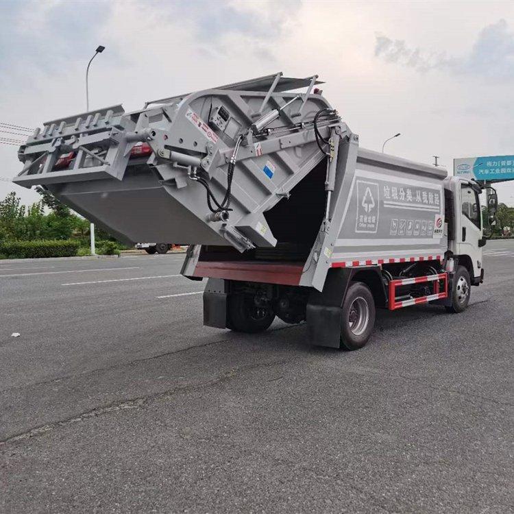 江铃顺达压缩式垃圾车全方位高清图展示