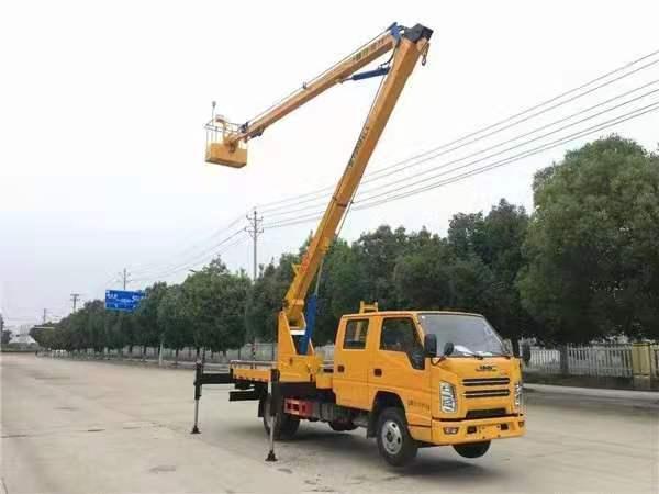 江铃顺达双排16米高空作业车(黄牌)全方位高清图展示