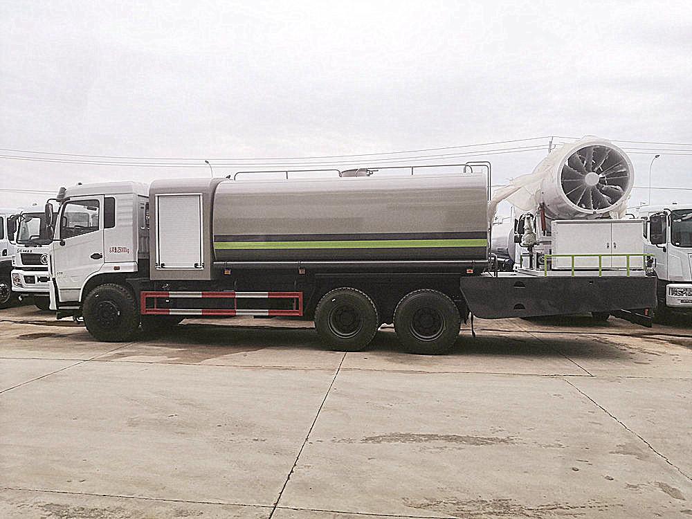 国六东风D3L后双桥16吨(方圆罐)多功能抑尘车