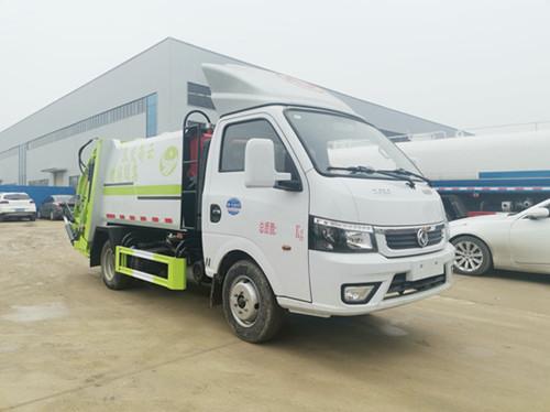 东风途逸3.5方压缩式垃圾车,由云南交投集团捐赠