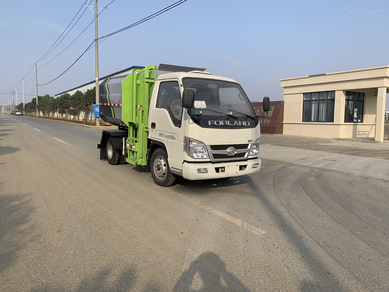 福田小卡之星 4方自装卸垃圾车