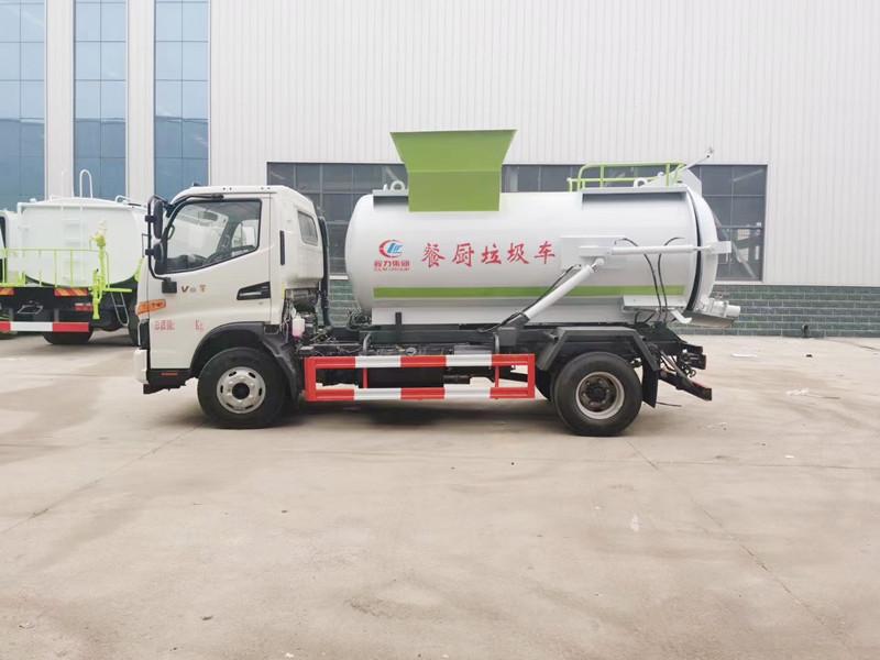 国六江淮5方圆罐餐厨垃圾车