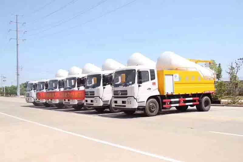 程力品质环卫车联合疏通车垃圾车批量发车