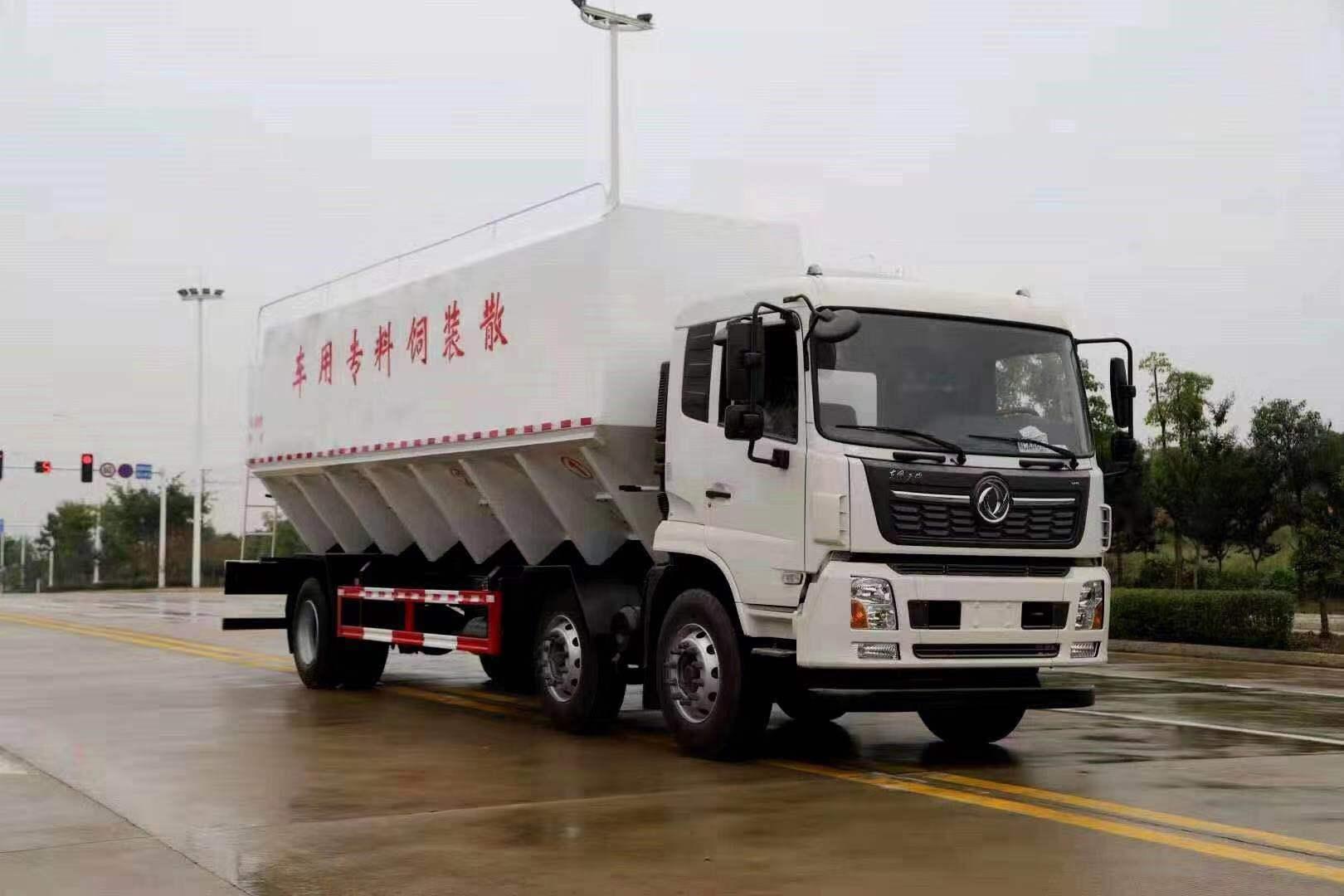 东风天锦小三30方散装饲料车