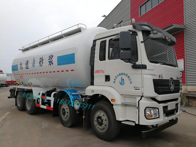 陕汽M3000 28方干混砂浆运输车