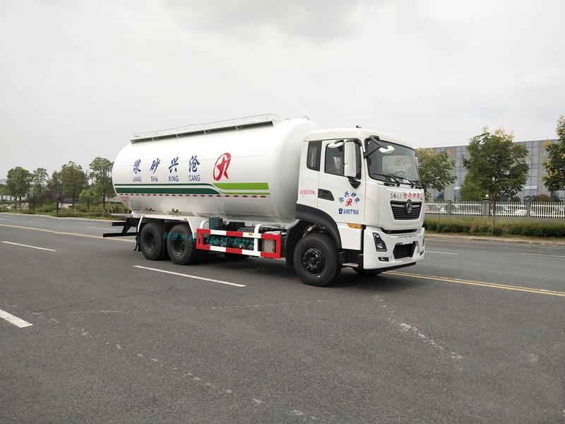 东风天龙28方LNG低密度粉粒物料运输车