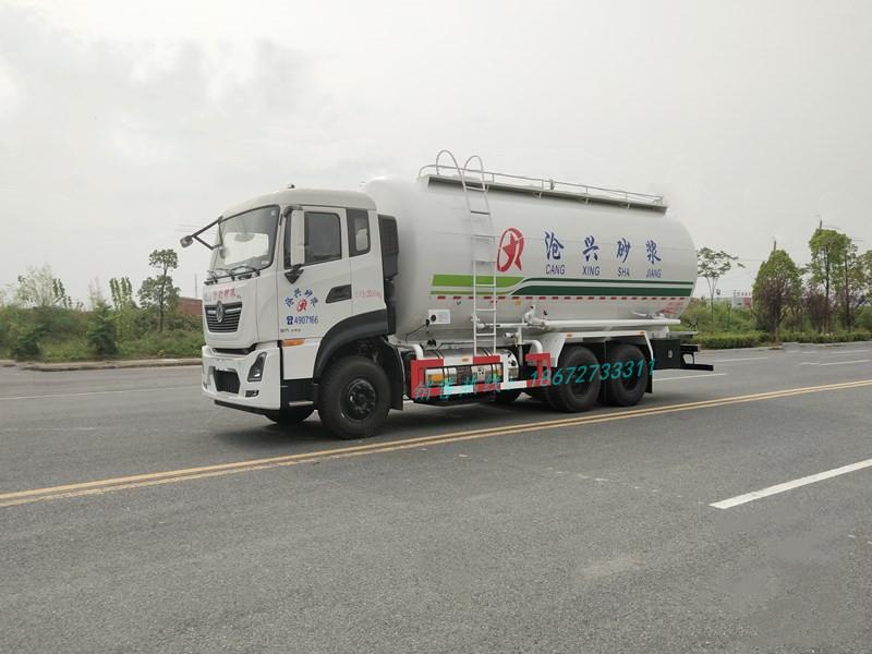 东风天龙28方LNG干混砂浆车