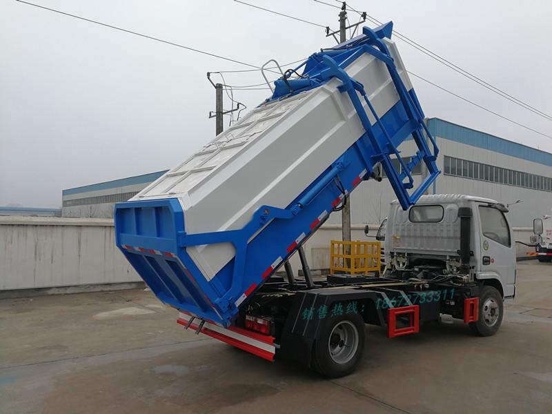 东风多利卡6方自卸式垃圾车