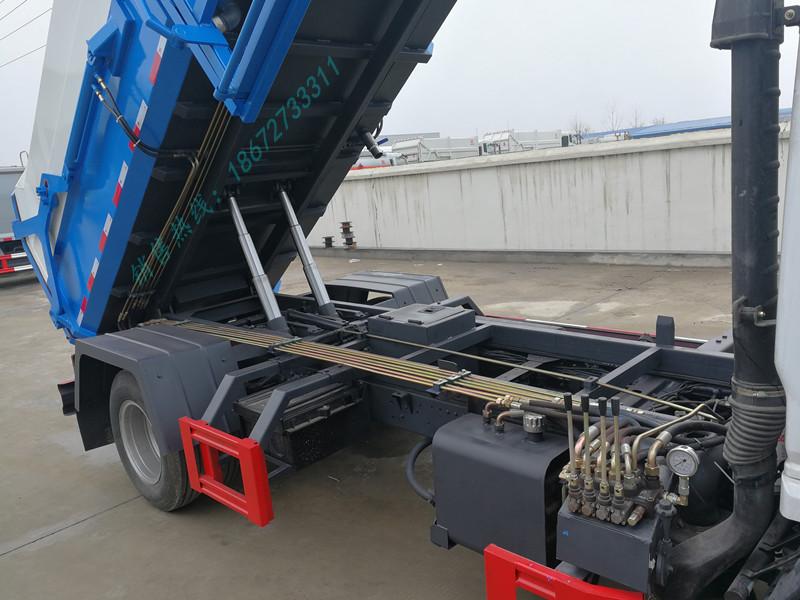 东风多利卡6方自卸式垃圾车上装布局图