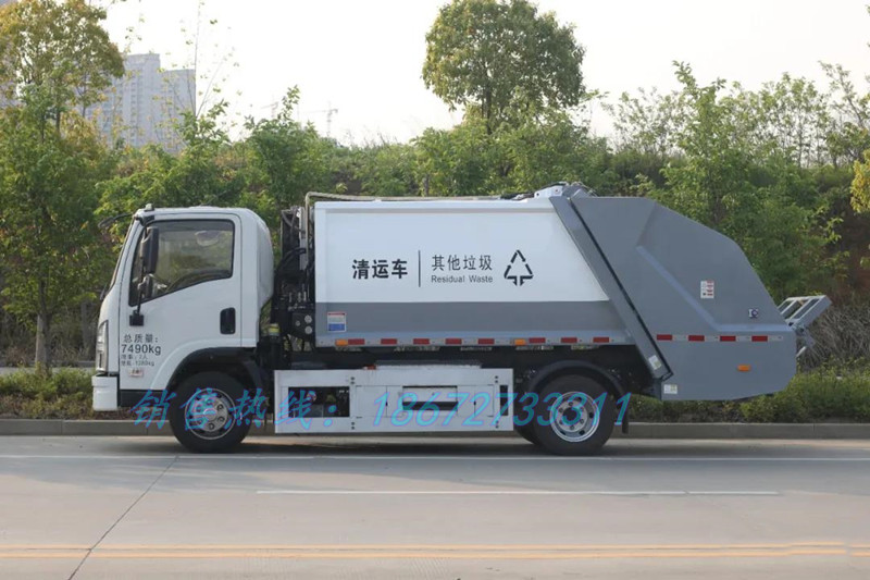比亚迪6方电动压缩垃圾车