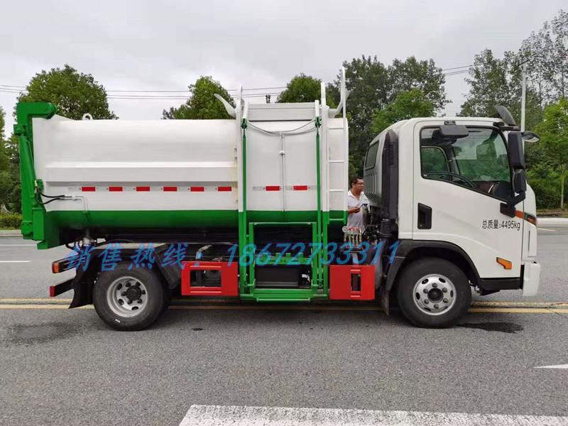 大运7方自装卸式垃圾车右侧结构图