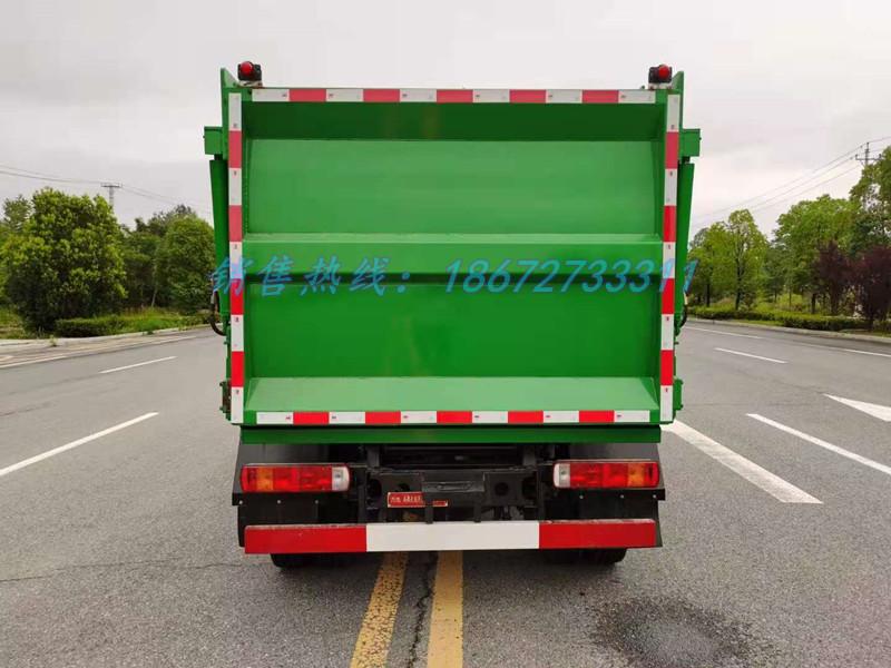 大运7方自装卸式垃圾车正后
