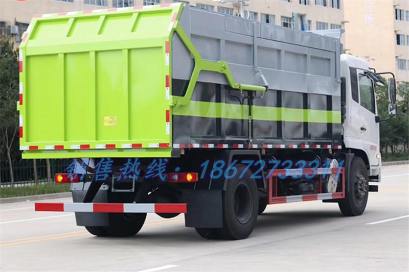 东风天锦翼展盖式压缩式对接垃圾车