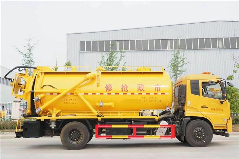 东风天锦一体式14方清洗吸污车国六