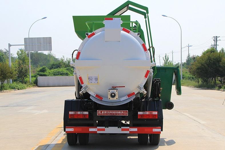 东风多利卡4.5方餐厨垃圾车(圆罐)
