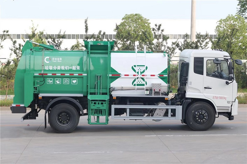 东风天锦10-12方餐厨厢式垃圾车