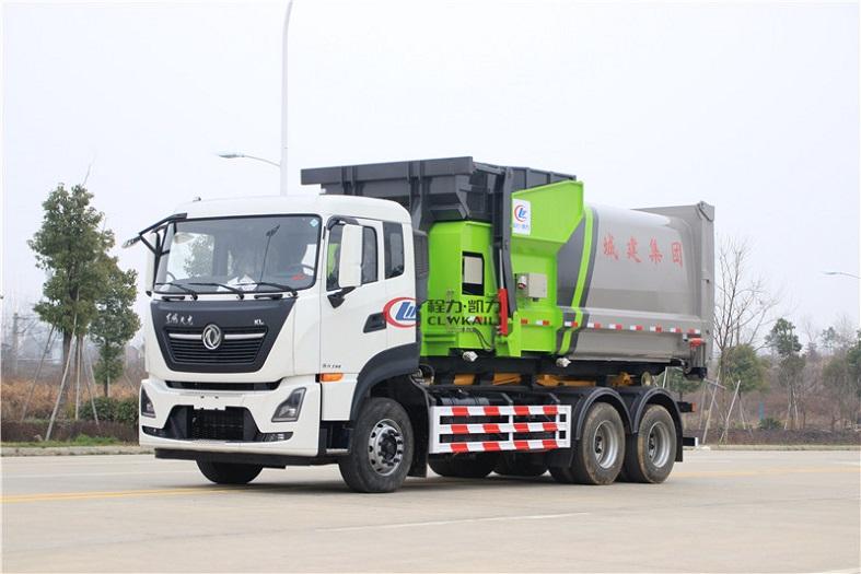 东风天龙25吨勾臂垃圾车国六