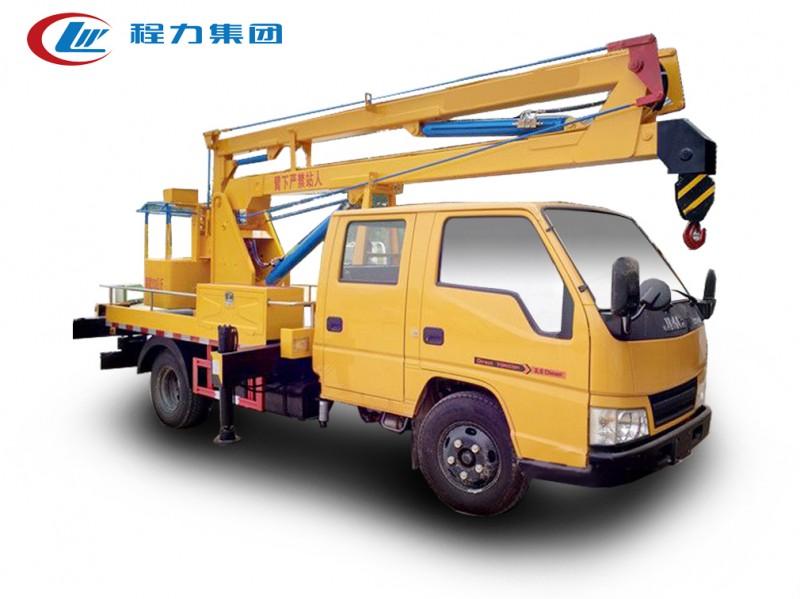 江铃双排12米蓝牌高空作业车