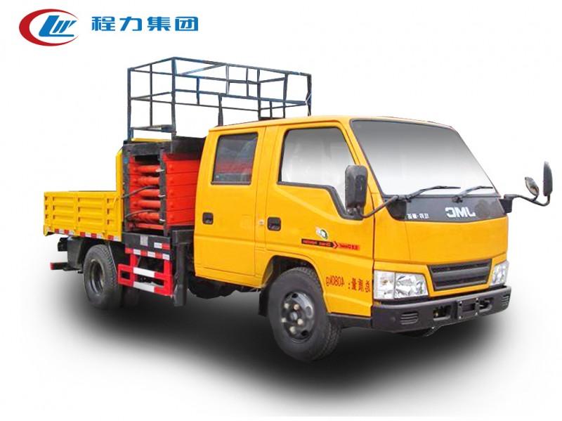 江铃双排座8-10米平台升降高空作业车