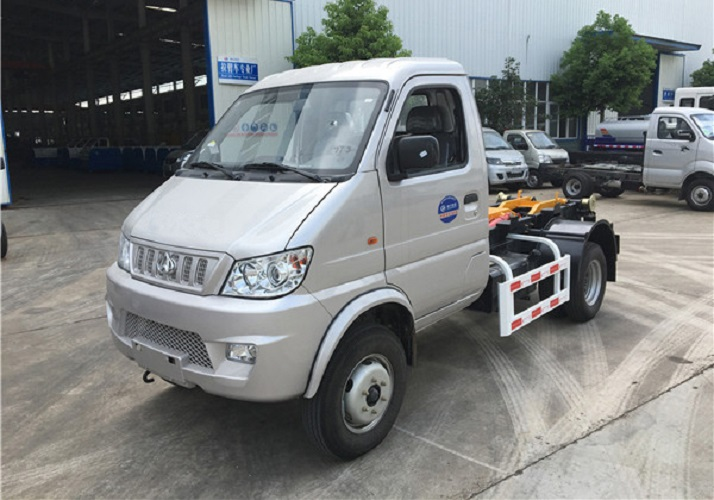 重庆国五长安勾臂式垃圾车