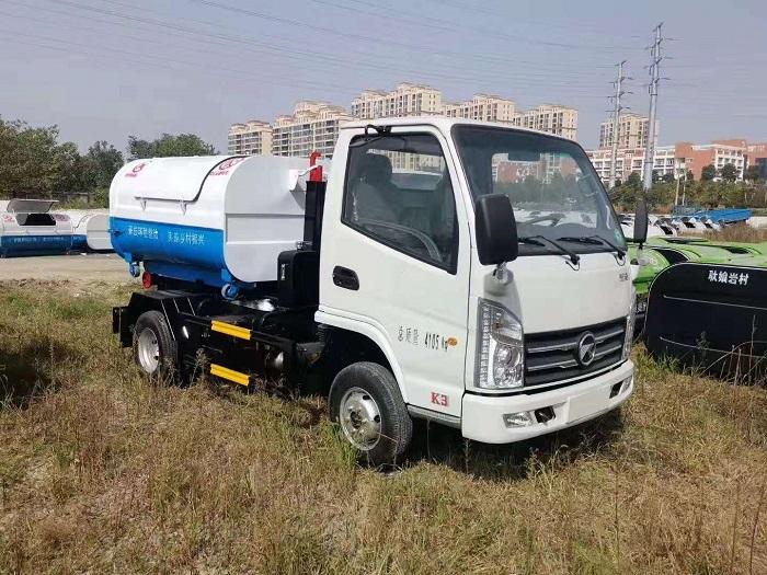 重庆凯马国六3方勾臂式垃圾车
