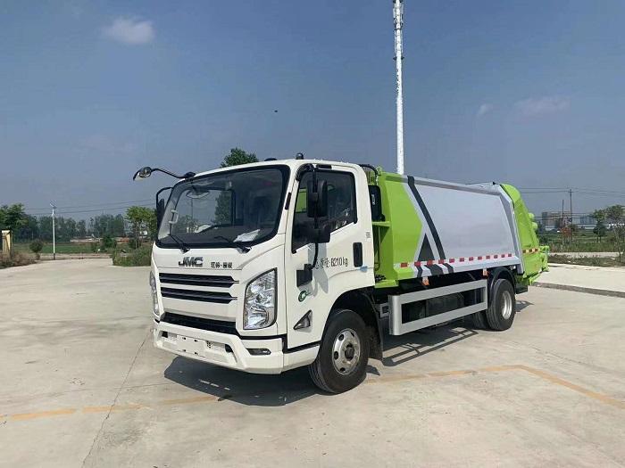 黑龙江江铃凯锐国六8方压缩式垃圾车