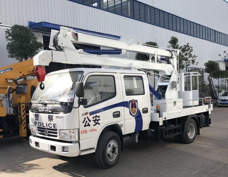 东风多利卡双排12米蓝牌高空作业车