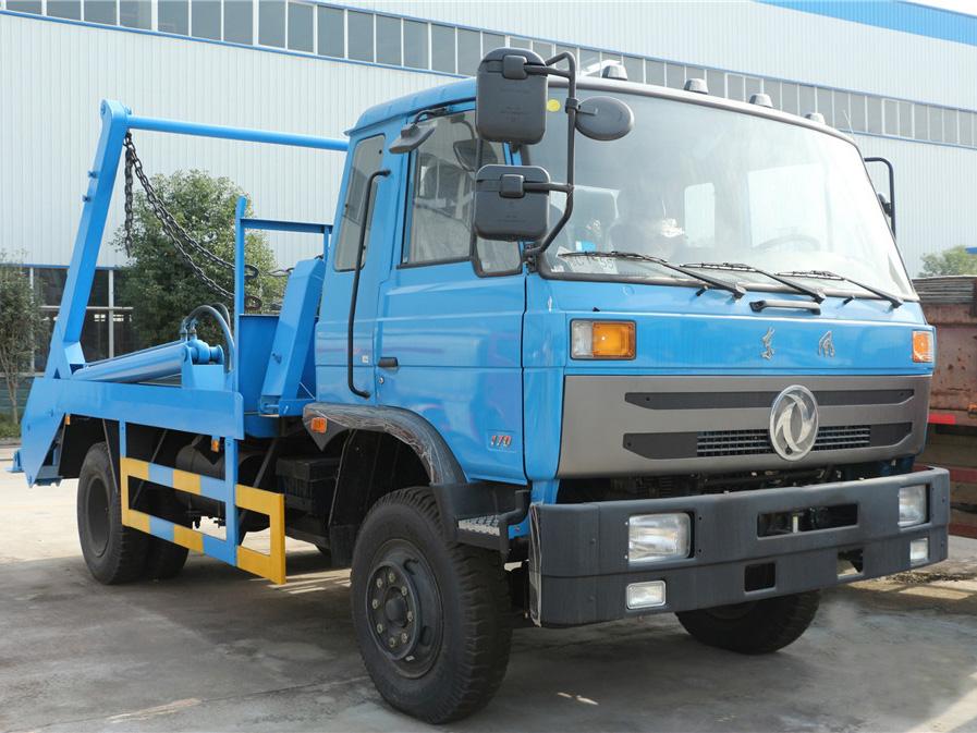 重庆东风145(10方)CLW5161ZBSD5摆臂式垃圾车车型简介