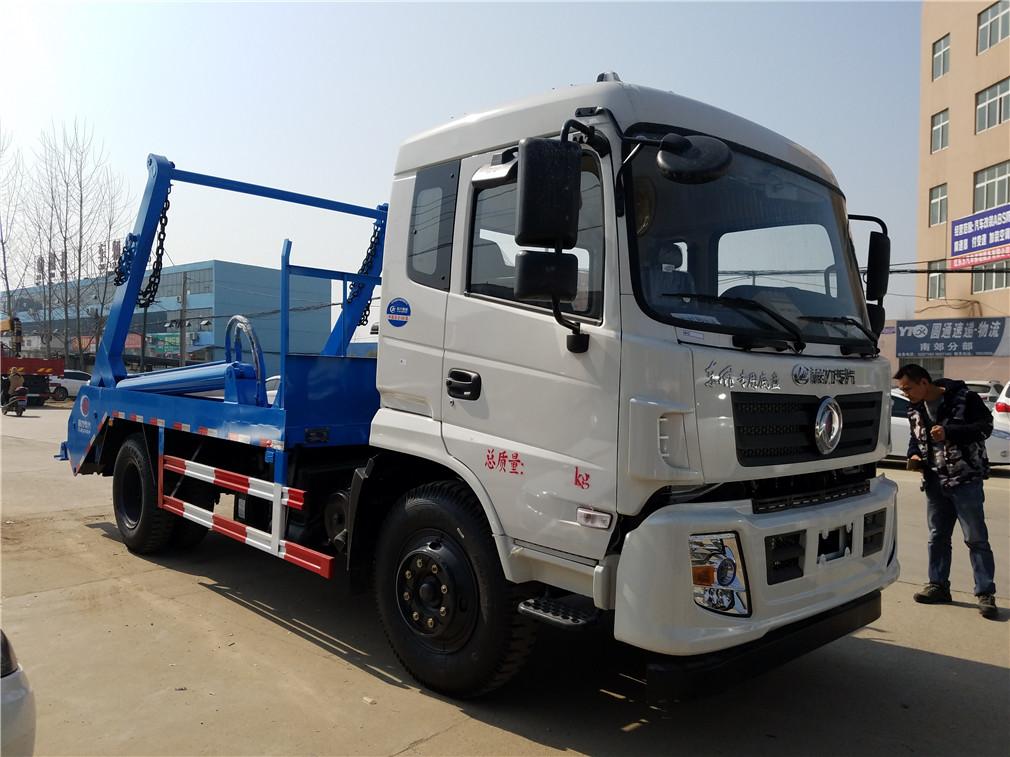 重庆东风专底(10方)CLW5161ZBSD5摆臂式垃圾车车型简介